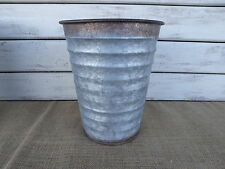 Small Vintage Inspired Galvanized Metal Bucket Vase Wedding Farmhouse Decor NEW