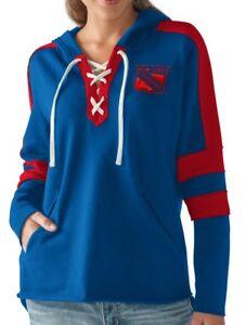 "New York Rangers Women's NHL G-III ""Blueline"" Lace Up Pullover Hooded Sweatshirt"