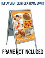 2 Replacement Signs for A-Frame sidewalk sandwich board, Custom Print (No Frame)