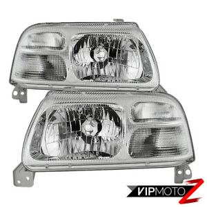 1999-2003 Suzuki Grand Vitara XL-7 [Factory Style] Chrome Headlamps Lights Pair