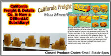 Closed Produce Crates-Small Stacks (6pcs)  N/Nn3/1:160-California Freight *NEW*