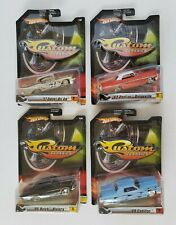Hot Wheels Custom Classics Lot of 4 New in Packaging 1/50 Scale Diecast Lot #2