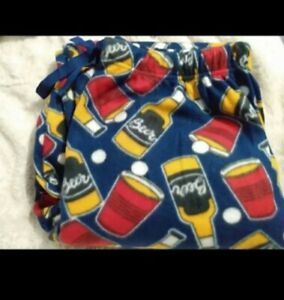 New Beer Pong Pajamas Lounge Pants Men's Large L Fleece Red Solo Cup Fathers Day
