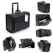 Rolling Laptop Bag Large Wheeled Briefcase Travel Business Locking Case Black