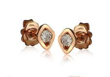 18Carat Rose Gold Sleek Diamond Solitaire Pair Stud Earrings 0.28carats G-SI