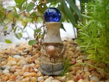New Miniature Dollhouse Fairy Garden Gnome With Crystal Gazing Ball