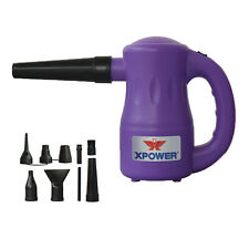 XPOWER B-53 Airrow Pro Multi Use 115V Pet Dryer Blower Duster Air Pump - Purple