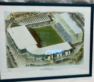 """Manchester City Football Club Maine Road Signed Print KH Fine Arts 18"""" x 14"""""""