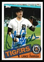 1985 Topps Lance Parrish Autographed Card - Detroit Tigers TTM - #160