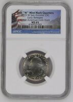 2019 W QUARTER MISSIONS NGC MS65 EARLY RELEASES. SAN ANTONIO, W MINT MARK