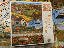 Masterpieces Town & Country AUTUMN MORNING 300 piece puzzle EZ Grip Art Poulin