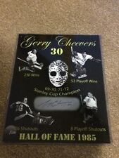 Boston Bruins Gerry Cheevers Autographed16x20 Collage