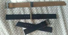 NEW 3pc lot NOS Stylecraft Midnight blue snake skin Corfam 16mm watch strap