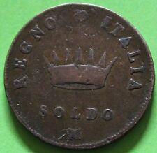 ITALIE KINGDOM OF NAPOLEON SOLDO 1807 M