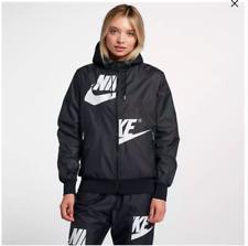 Womens Nike Sportswear 2018 Windrunner Jacket AJ2974-010 Black/White New Sz S