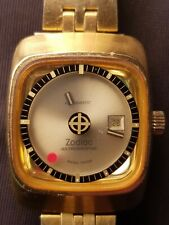 Zodiac Astrographic Gold Plated Women's Watch