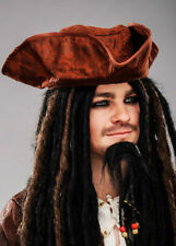 Brown Distressed Pirate Hat Fancy Dress 1162401