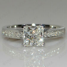 2.25 Ct Diamond Princess Cut 14K White Gold Finish Engagement Wedding Ring