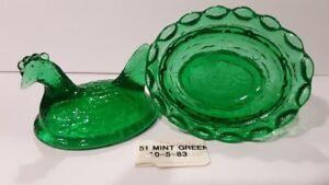 Boyd Crystal Art Glass - Vintage Chick Salt  #51 Mint Green - 1st Generation
