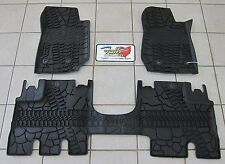 2014-17 Jeep Wrangler JK Unlimited RHD All Weather Rubber Slush Floor Mats Mopar