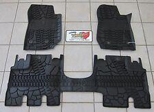2014-18 Jeep Wrangler JK Unlimited RHD All Weather Rubber Slush Floor Mats Mopar