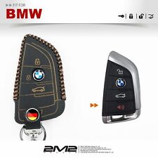 Leather Key fob Holder Case Chain Cover FIT For BMW 2018 X1 X3 X4 X5 X6 35i 50i