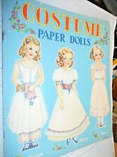 New ListingCostume Paper Dolls Uncut Abbott Publications