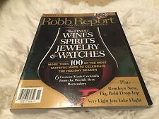 November 2006 Robb Report Issue Magazine Luxury Lifestyle Watch Jewelry Wine