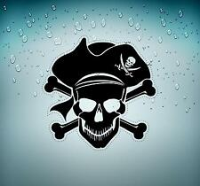 Sticker decal motorcycle car tuning room kids befroom pirates pirate skull r5