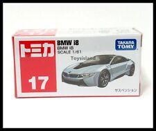 TOMICA #17 BMW i8 1/61 TOMY DIECAST CAR 2016 NOV NEW MODEL