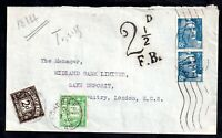 France 1948 Postal History Cover 2 1/2d Postage Due To Pay WS18220