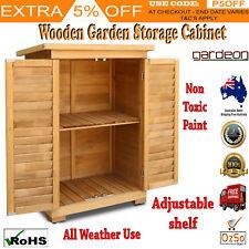 Garage Garden Shed Carport Outdoor Storage Cabinet Cupboard Adjustable Shelf