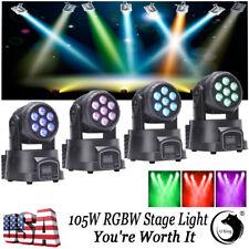 U`king Moving Head Stage Light 4PCS 105W RGBW LED Fixture DMX Mixing Party Decor