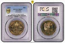**2003 Australian Coronation PCGS MS 67 50c UNC **