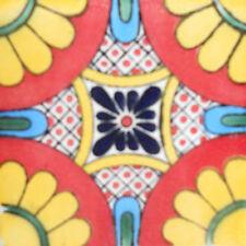 90 MEXICAN CERAMIC TILES WALL OR FLOOR USE CLAY TALAVERA MEXICO POTTERY #C094