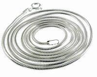 925 Silber Halskette - Collier - Schlange - Diamantiert Ø 1,4mm - Länge 50 cm