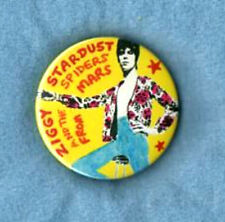 DAVID BOWIE BADGE. Ziggy Stardust, Glam, 70's rock.