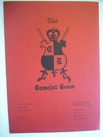 The Camelot Room Restaurant Menu Ramada Inn St. Louis Missouri Vintage GC Menu83
