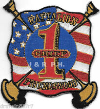 "Friendswood  Battalion Chief - 1, TX   (3.5"" x 4"" size) fire patch"