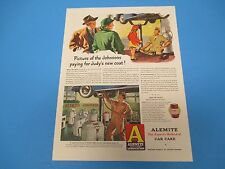 1948 Alemite High Pressure Lubricating Equipment Judy's New Coat Print Ad PA010