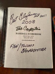 2008 Bert Blyleven Scorebook Minnesota Twins Broadcast Used