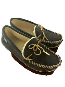 Men's Suede Slipper Brown By Wallin And bros Size 9