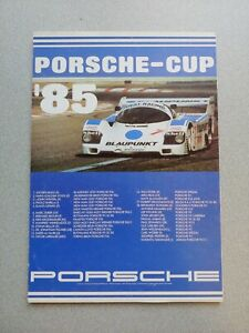 VERY NICE VINTAGE PORSCHE CUP DEALERSHIP NOTEPAD SALESMANS DESK 1985 30 pages