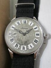 VINTAGE MOLNIJA CCCP MADE wrist WATCH 18 jewels , VERY RARE INCABLOC cal. 3603