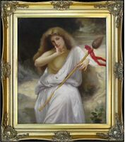 Framed Hand Painted Oil Painting Repro William Bouguereau Bacchante 20x24in