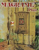Macrame Plus Craft Instruction Pattern Book HH11 Wall Hangings & Plant Hangers