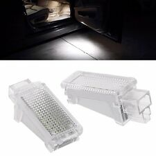 2x LED CAN-bus Door Courtesy Lights Lamps White For Audi A3 A4 A5 A6 A7 Q5 Q7 TT