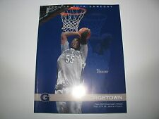 2008 Georgetown Hoyas vs Cincinnati/St Johns Basketball Game Program Roy Hibbert
