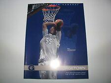 2008 Georgetown Hoyas vs Cincinnati/St Johns Basketball Game Program Roy Hibbert