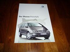 VW Sharan FREESTYLE Prospekt 10/2005